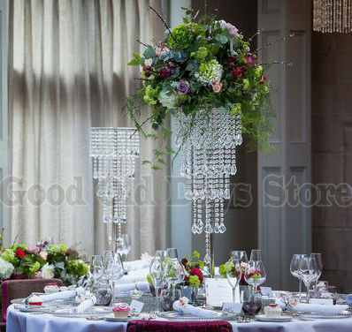 80cm tall table centerpiece flower stand 5 tiers crystal chandelier 80cm tall table centerpiece flower stand 5 tiers crystal chandelier with beads strands wedding decor in glow party supplies from home garden on junglespirit Gallery
