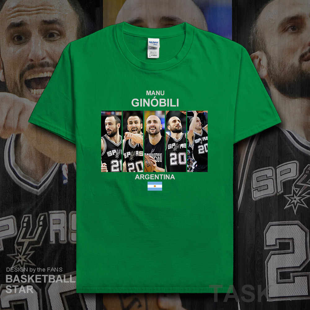 3ef37c44a4e Detail Feedback Questions about Manu Ginobili t shirt men new ...