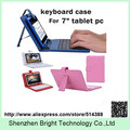 100pcs/lot Free Shipping 7 inch Keyboard Leather Case Protective Cover for 7 inch Tablet PC