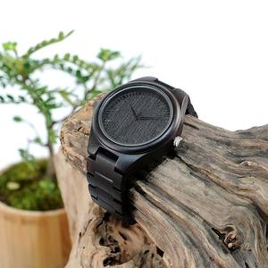 Image 5 - BOBO BIRD WH05 ออกแบบแบรนด์คลาสสิกไม้ Ebony นาฬิกาไม้นาฬิกาควอตซ์น้ำหนักเบาสำหรับผู้ชายกล่องกล่อง