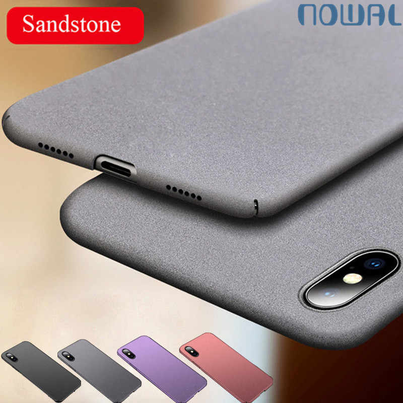 NOWAL Luxury Sandstone Matte Case For iPhone 7 Plus 8 8Plus UltraSlim Hard Plastic Cover For iPhone 11 Pro X XR XS Max 6 6S Plus