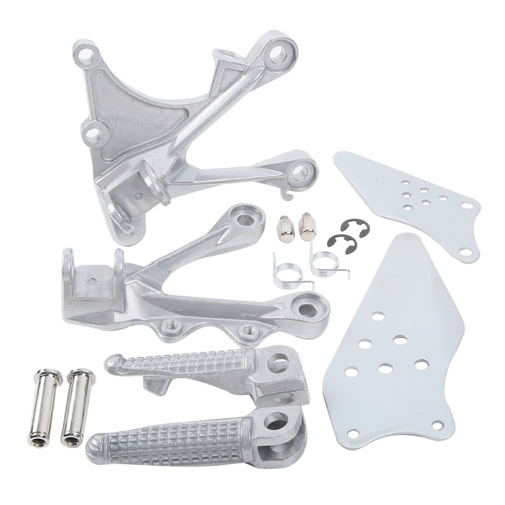 Aluminum Motorcycle Front Footrest  For KAWASAKI ZX6R 2005-2008 ZX636 2005-2006 Front Foot Pegs
