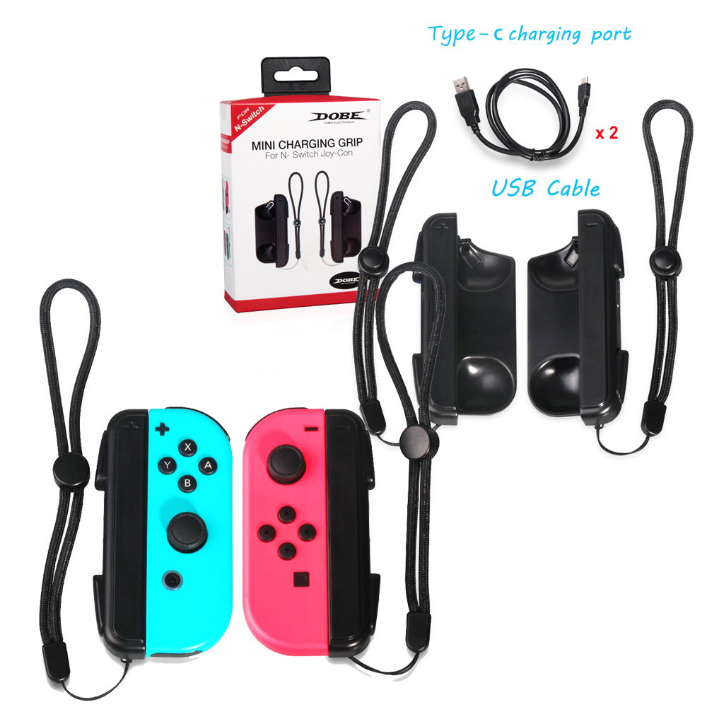 Hot Selling Nintend Switch Mini Charging Grip Charger Handle, N-Switch Joy-Con Controller USB Charger with 2 USB Charging Cable