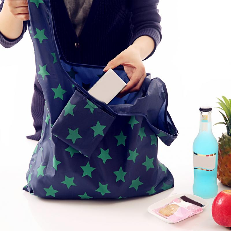 Portable Folding Shopping Bag Large Oxford Cloth Bags Thick Bag Foldable Waterproof Ripstop Shoulder Bag Handbag