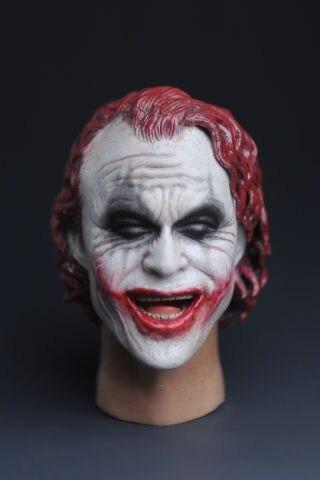 ФОТО 1/6 figure doll head.Batman Joker Red hair head shape.doll accessories for DIY12