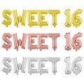7 шт./лот розовое золото сладкий 16 шестнадцать День рождения украшение для вечерние милые девочки с днем рождения пончик воздушный шар товар...