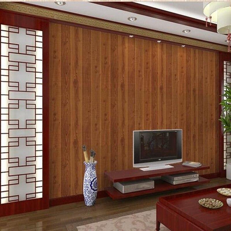 Beibehang papier peint Vintage bois papier peint PVC étanche 3d Design moderne revêtement mural bois papier peint pour murs fond