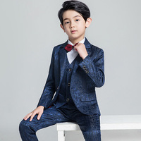 Kids Wedding Suit Blazer Boys Suits Formal Single Button Solid Suit For Kids 1Set Formal Children's Costume Tuxedos Suit Z934
