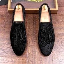 JOZIGBEMA Slip On Shoes Men Black 2019 Moccasins Solid Soft