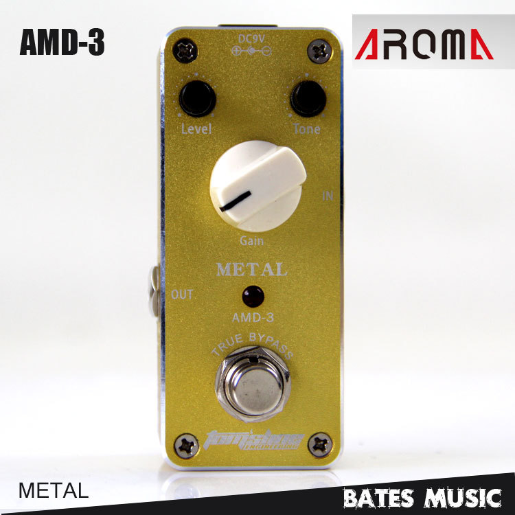 MINI Effect Pedal/Aroma AMD-3 Metal True bypass Guitar pedal mooer ensemble queen bass chorus effect pedal mini guitar effects true bypass with free connector and footswitch topper