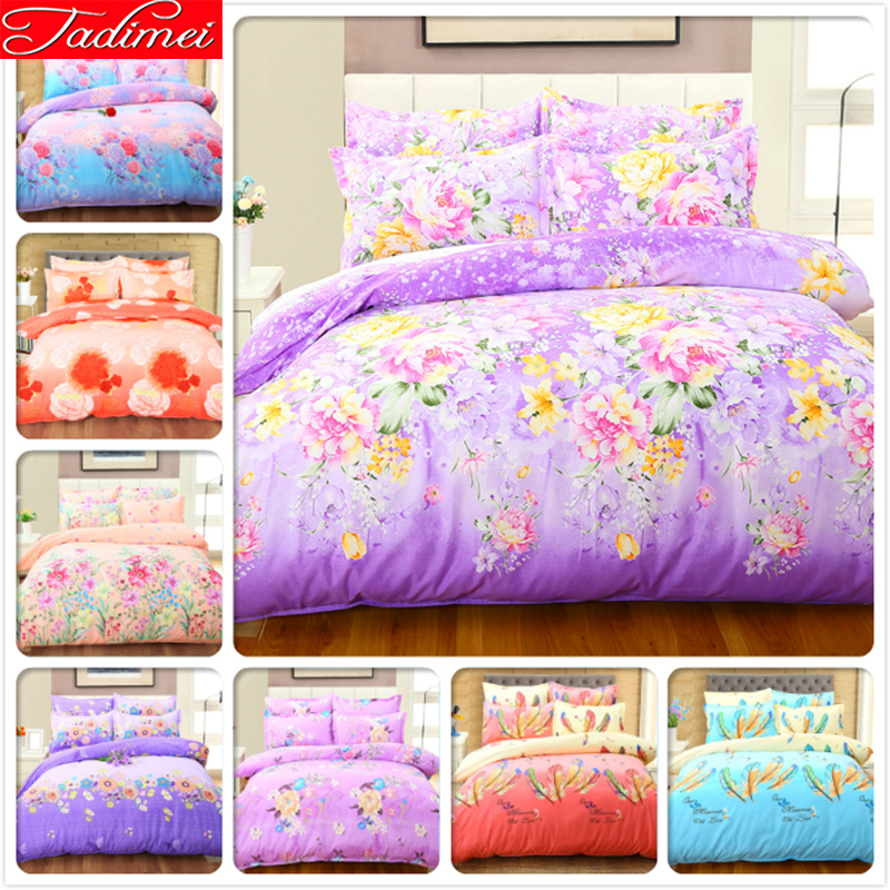 Village Style Flower Pattern Duvet Cover Bedding Set Adult 200x230 Duvet Cover Soft Cotton Bed Linen Queen King Size Quilt SheetVillage Style Flower Pattern Duvet Cover Bedding Set Adult 200x230 Duvet Cover Soft Cotton Bed Linen Queen King Size Quilt Sheet