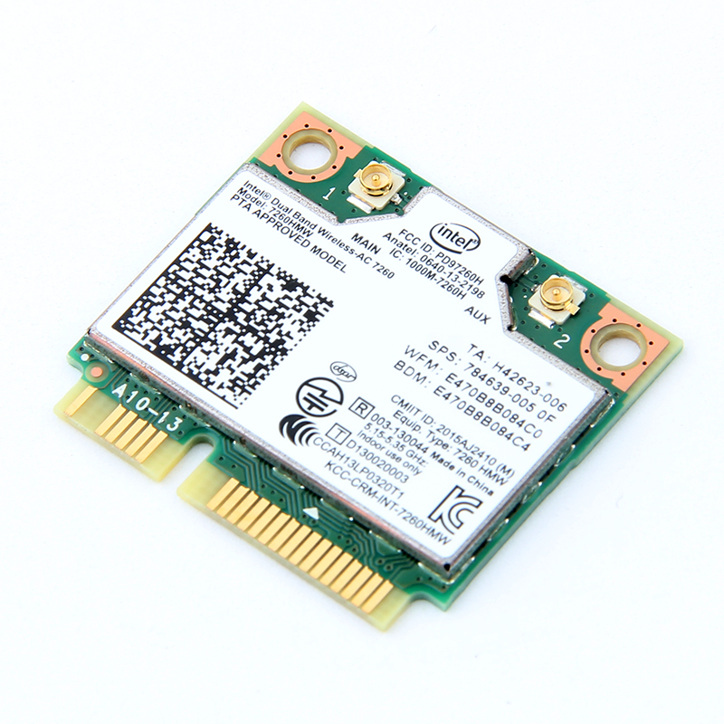 Dual Band Wireless Wifi Card Untuk Intel AC7260 7260HMW ac Mini PCI-E - Peralatan jaringan - Foto 4