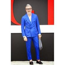 Royal Blue Men Suit Prom Jacket costume homme Groom Tuxedo Slim Fit Style mens Suits Custom 2 Piece Blazer Terno Masculino 2017