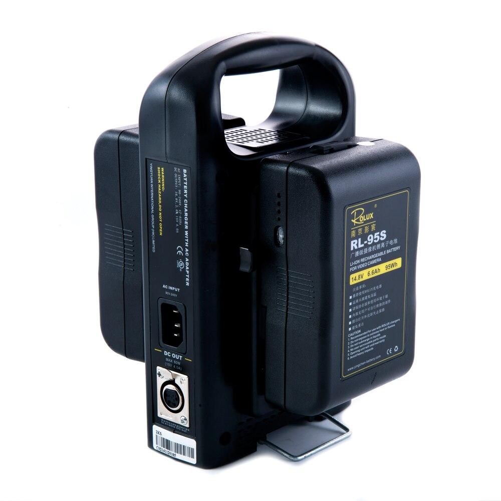 2 x Caméra Li-ion Batterie 95Wh 14.8 V + Double Alimentation Chargeur pour Appareil Photo REFLEX NUMÉRIQUE Sony V-montage V serrure