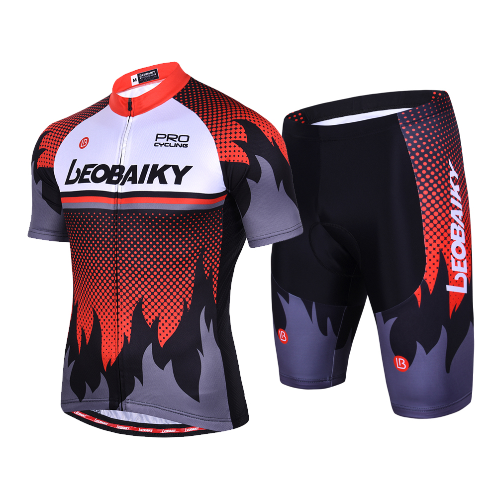 FDX Race Fit Mens Cycling Jersey Short Sleeve Breathable Summer Bike Cycling Top