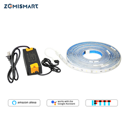 Zemismart RGBW LED Light Strip Work with Alexa Echo Google Home IFTTT Wifi Support up to 6m Waterproof Timer Voice Control