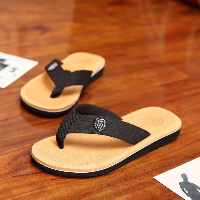 CIMIM Summer Fashion Outdoor Men's Flip Flops Beach Sandals For Men Walking Cool  Flat Slippers non-slip Shoes Sandals pantufa lanshulan bling glitters slippers 2017 summer flip flops platform shoes woman creepers slip on flats casual wedges gold