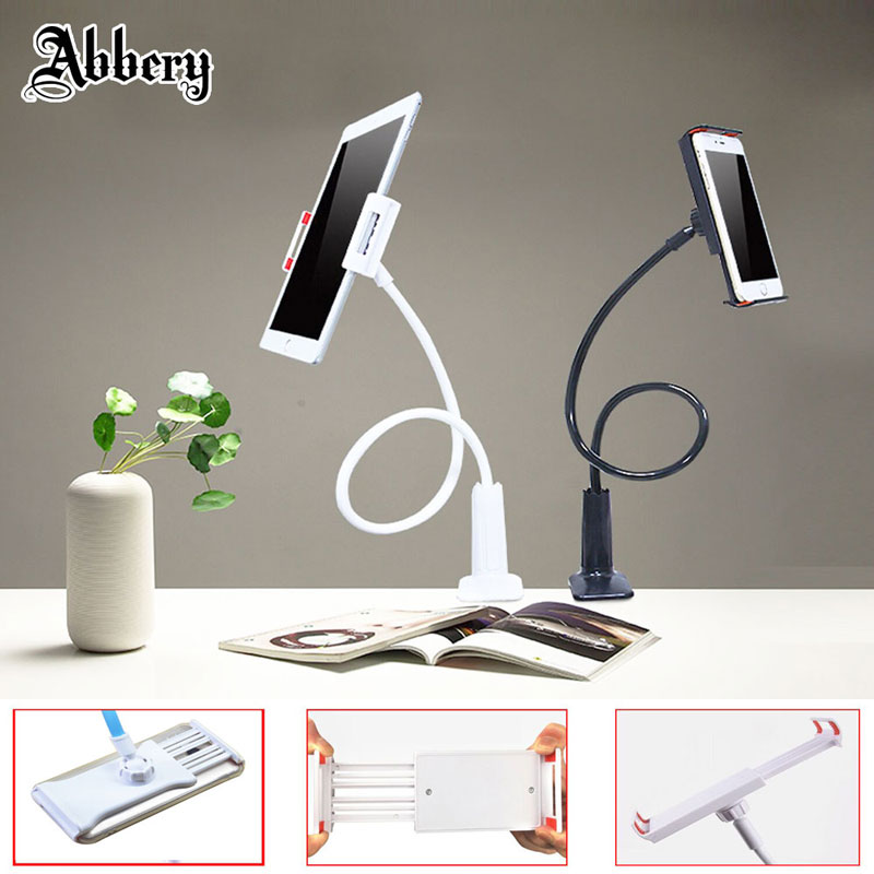 Abbery Flexible Arm Gooseneck Holder Car Mobile Phone Long Arm Lazy Bedside Desktop 360 Degree Tablet Holder for iPad Air/Mi Pad