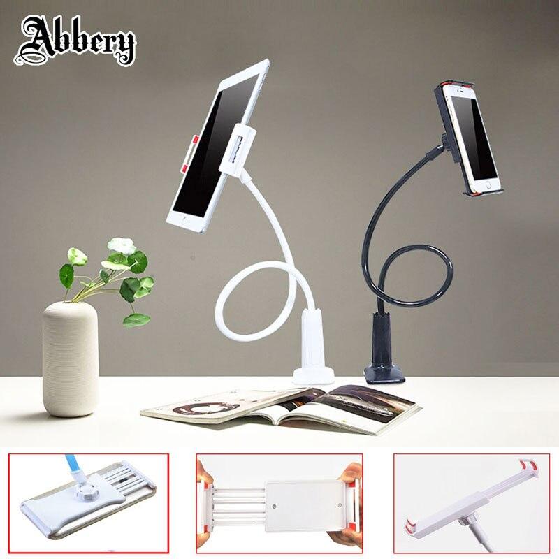 Abbery flexible brazo titular del teléfono móvil brazo largo perezoso cama escritorio 360 grados Tablets para IPad aire /Mi pad