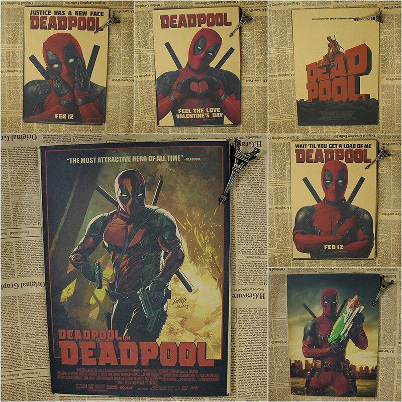 Deadpool Poster / Marvel superhjälte dekoration målning - Heminredning - Foto 1