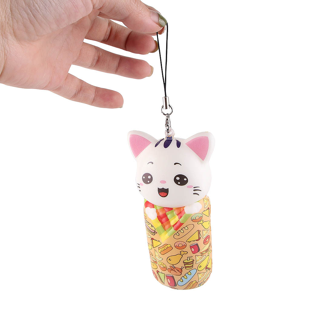 Cute Squishy Toys Mini Adorable Cat Slow Rising Kids Stress Reliever Decompression Toy L723