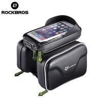 ROCKBROS Bicycle Waterproof Bag Frame Front Head Top Tube Bike Bag Double IPouch Cycling For 6