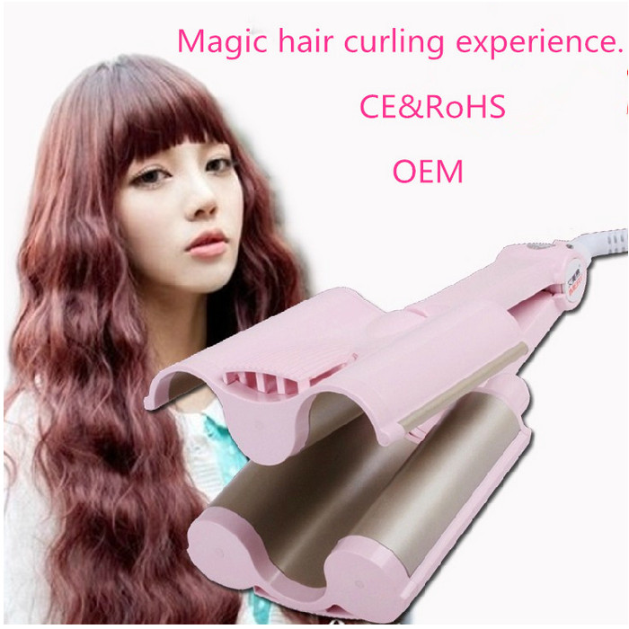 Professional 3 Barrels Fast Heat Curling Iron thermoregulator Electric Hair Curler triple waver spiral curlers curling tongs аксессуары для виниловых проигрывателей ortofon stylus 2m mono
