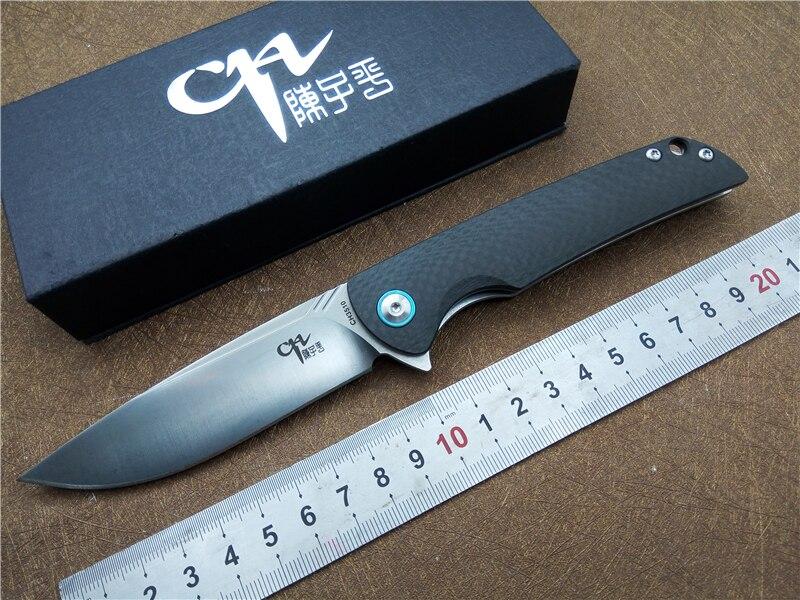 Couteau pliant CH CH3510 en fiber de carbone poignée tactique couteau de survie En Plein Air camping Chasse couteau de Poche EDC Outils