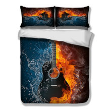 3D Guitar Music Bedding Set HD Beddings Duvet Cover Bedlinen Twin Full Queen King Size