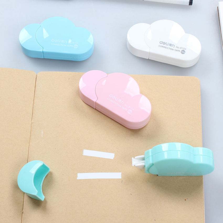 5mm*5m Cartoon Candy Color Cloud Correction Tape School Chancery Stationery Store Corrector Tape Creative Material For Kids