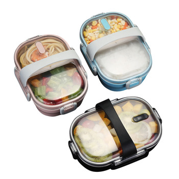 Lunch Box For Kids 304 Stainless Steel Bento Box Kitchen Japanese Portable Leak-proof Food Container Food Lunch Box For School