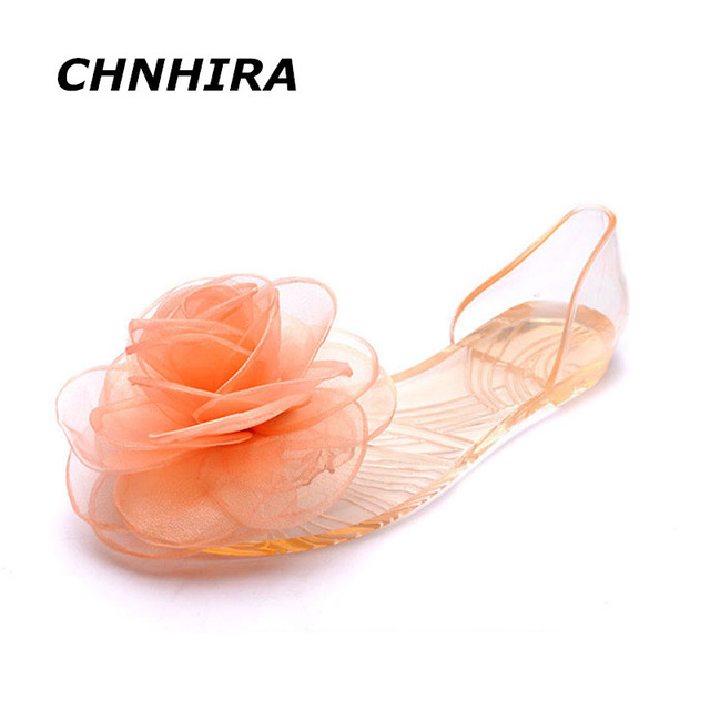 b27955d95993 CHNHIRA Sweet Flowers Lady Jelly Shoes Women Sandals Flat Summer Shoes Woman  Casual Flats Shoes Sandalias Mujer CH109