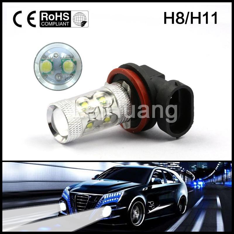 2pcs DC12v-24v 50W Car Led Fog Lamp 9006 HB4 Led Light Bulb Lamp Car ...