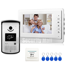 FREE 7″ Video Intercom Door Phone System With 1 White Monitor 1 RFID Card Reader HD Doorbell Camera In Stock Wholesale
