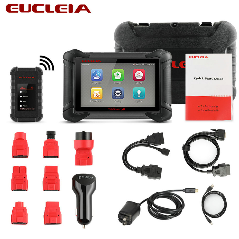 Image 5 - EUCLEIA S8 OBD2 Automotive Scanner ECU Programming and Coding Bluetooth WiFi Full System OBD Diagnostic OBDII Scan Tool-in Engine Analyzer from Automobiles & Motorcycles on