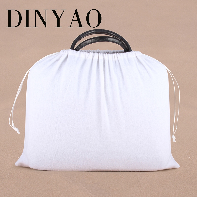 1pcs/lot 45*49cm High Quality Cotton Pouch Logo Printed Drawstring White Gift Bags Clothing Bags Dust-proof Packaging Bags
