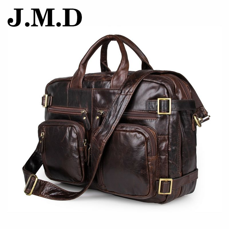 Hot sale casual Business men leather handbag multifunction Brand 100% Genuine Leather Bag Messenger bag Travel JD011 brand men leather bag hot sale trendy vertical messenger handbag casual business bag oil wax glossy genuine cow leather men bag