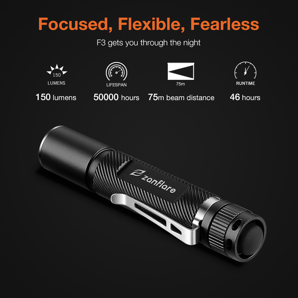 Zanflare F3 Pen Light Portable Mini LED Flashlight Torch CREE XP-G2 Flashlight 150LM 3Mode Hunting Camping Lamp By AAA Battery lumintop iyp365 3 modes 200 lumens xp g2 r5 nichia 219bt led flashlight portable mini pen light aaa torch aluminum led lamp