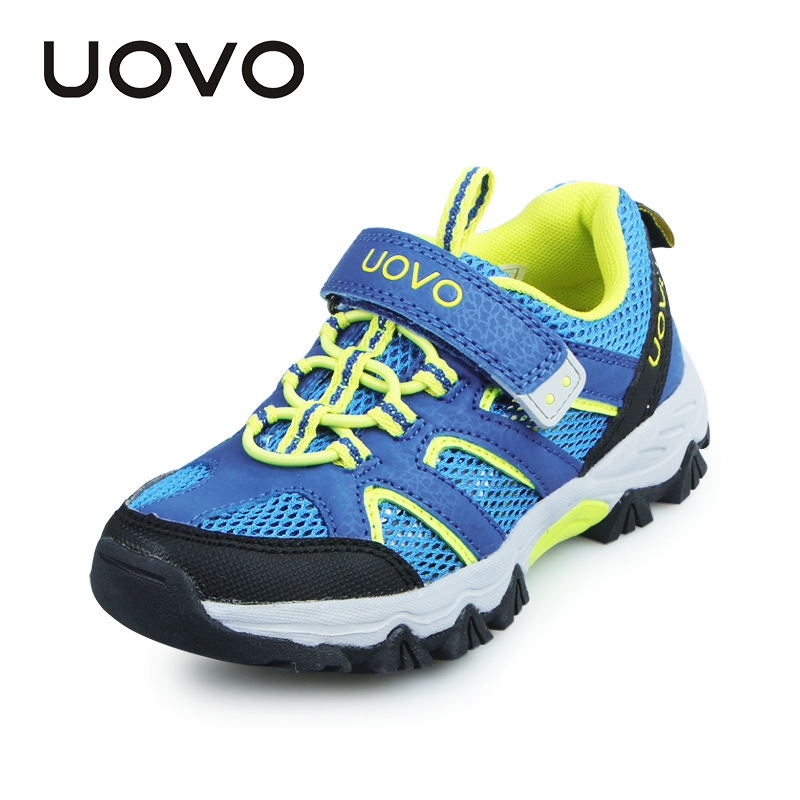 UOVO Brand 2017 New Kids Shoes Boys Sneaker Fashion High Quality Mesh Breathable Sport Shoe Child'S Children Casual Shoes Infant kelme 2016 new children sport running shoes football boots synthetic leather broken nail kids skid wearable shoes breathable 49