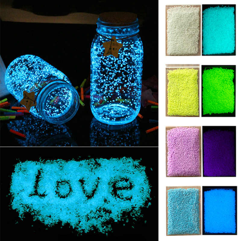 High Quality Dark Ornaments Luminous Sand Stones Garden Park Road Pebbles Glow For Party Aquariums Fish Tank Decoration Stone