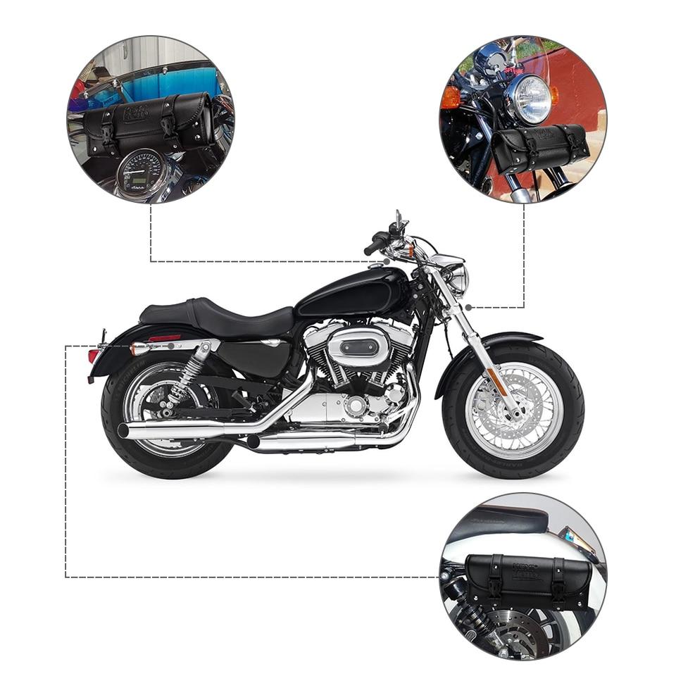 Sepikey Sacoche Moto /Étanche Outil De Voyage Queue Bagage avec Chargeur USB Affichage de La Tension Moto Sacoche De R/éservoir Oxford Magn/étique Sacoche Noir