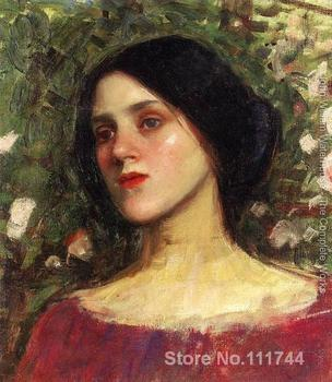 paintings by John William Waterhouse The Rose Bower famous art reproduction High quality Hand painted