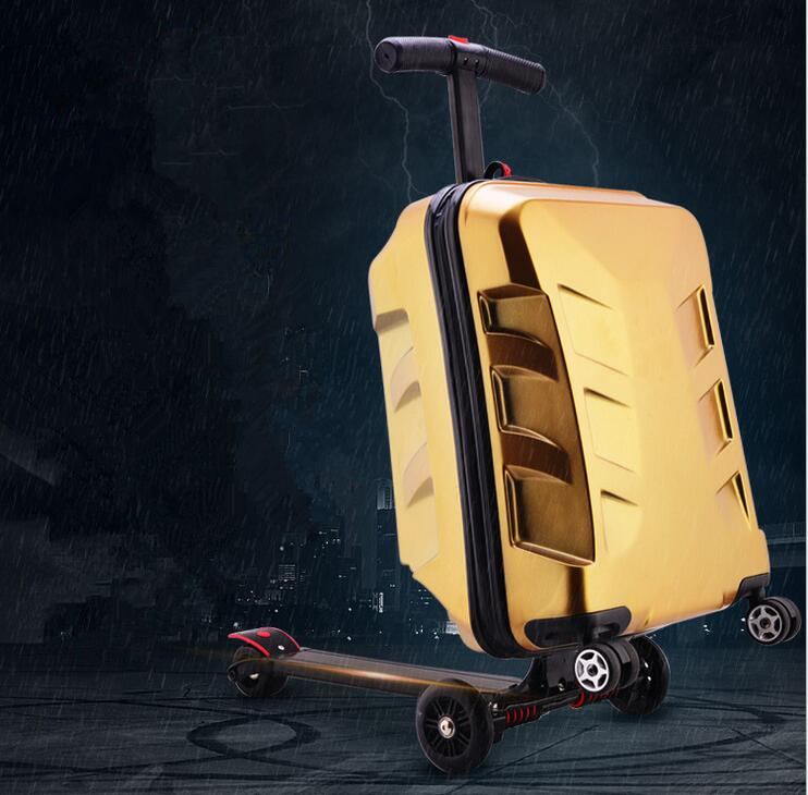 backpack with skateboard suitcase with wheels rolling travel luggage scooter with bag portable multi functional trolley case New Designe Child Scooter Luggage Suitcase With Wheels Skateboard Carry ons Luggage Travel Trolley Case