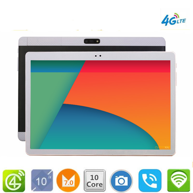 Il trasporto Libero 10.1 'Tablet Android 7.0 10 Core 128 gb di ROM Doppia Fotocamera 8MP Dual SIM Tablet PC di Google GPS bluetooth del telefono MT6797