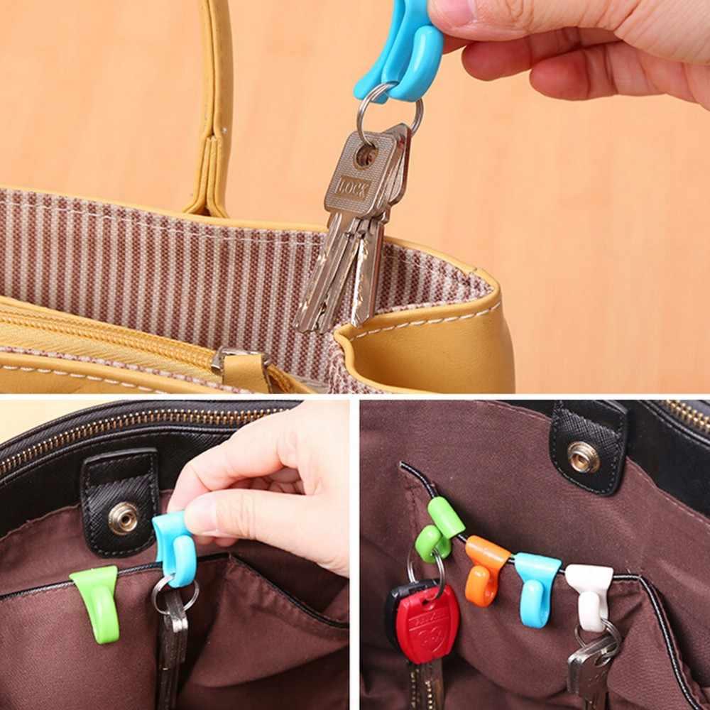2 sztuk/zestaw nowość strona główna z tworzywa sztucznego Mini śliczny kreatywny Anti-lost haczyk w torba klucz uchwyt do przechowywania stojak