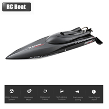 FeiLun FT011 RC Boat Motor Brushless 2.4G High Speed 55km/h Water Cooling System Remote Control Racing Speedboat Kids Toys Gift