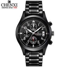 CHENXI Deportes Multifunción Para Hombre Reloj de Cuarzo Banda de Acero Inoxidable Reloj Hombre Cronógrafo Reloj Chico Reloj Relogio masculino