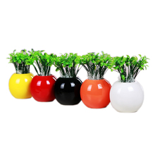 Pure color modern fashion sprouts small vase cute Home Furnishing customers study decoration ceramic crafts Junior desktop decor