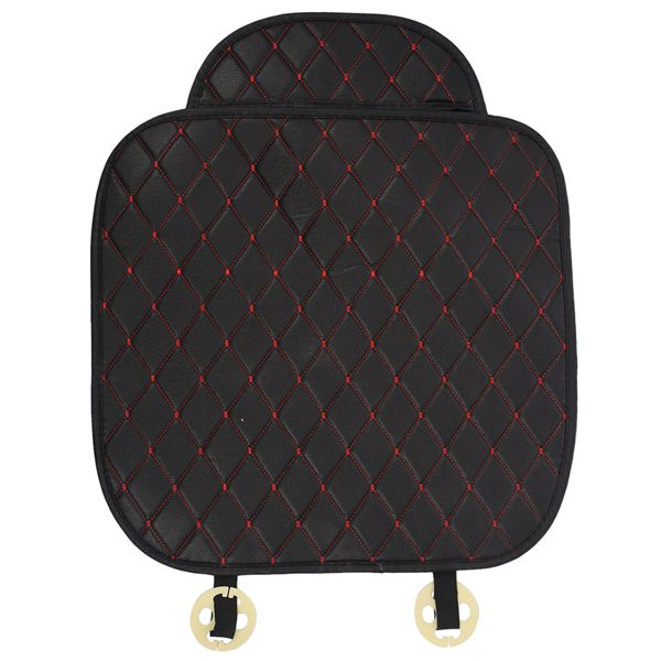 1x Non-slip Pu Leather Car Seat Cover Pad For Auto Seat Cushion Protection Pad Mat, Coffee High Safety