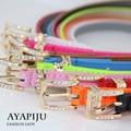 2016 new high quality women patent leather belt female colorful strap ladies pu riemen fashion narrow kemer wholesale wholesale